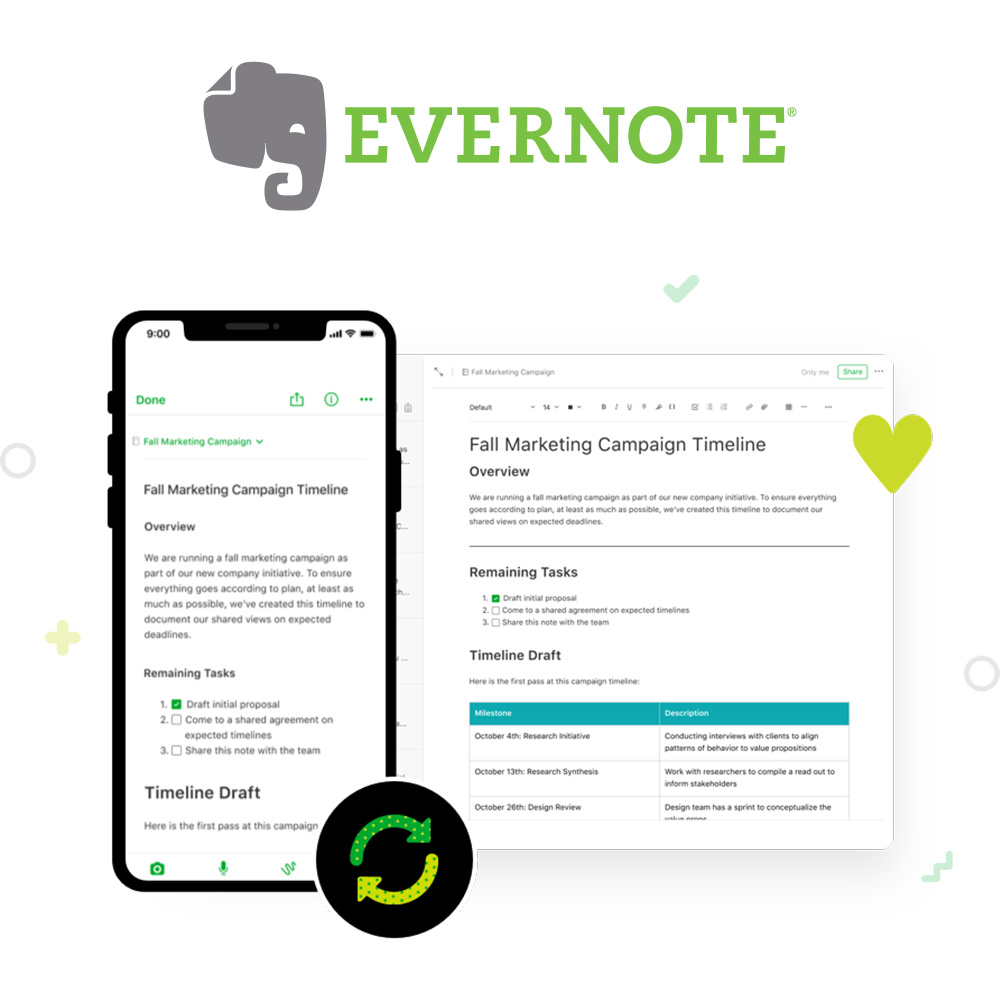 Syncs with Evernote Cover
