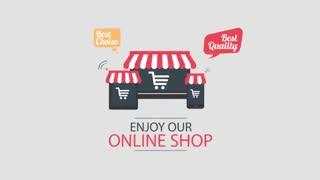 Online Shop Flat Style